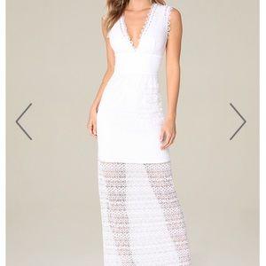 bebe lace maxi dress